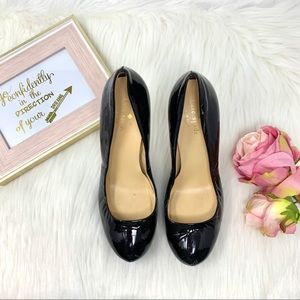 Kate Spade Paten Black Heels Leather Size 8